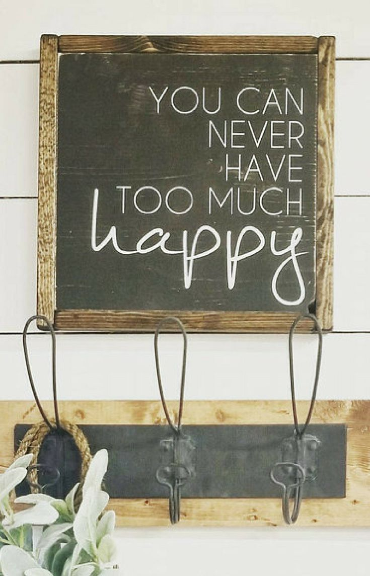 Rustic Farmhouse Sign You Can Never Have Too Much Hy Quotes Signs Shabby Chic Home Decor Reclaimed Wall Art Dwell605 On Etsy F