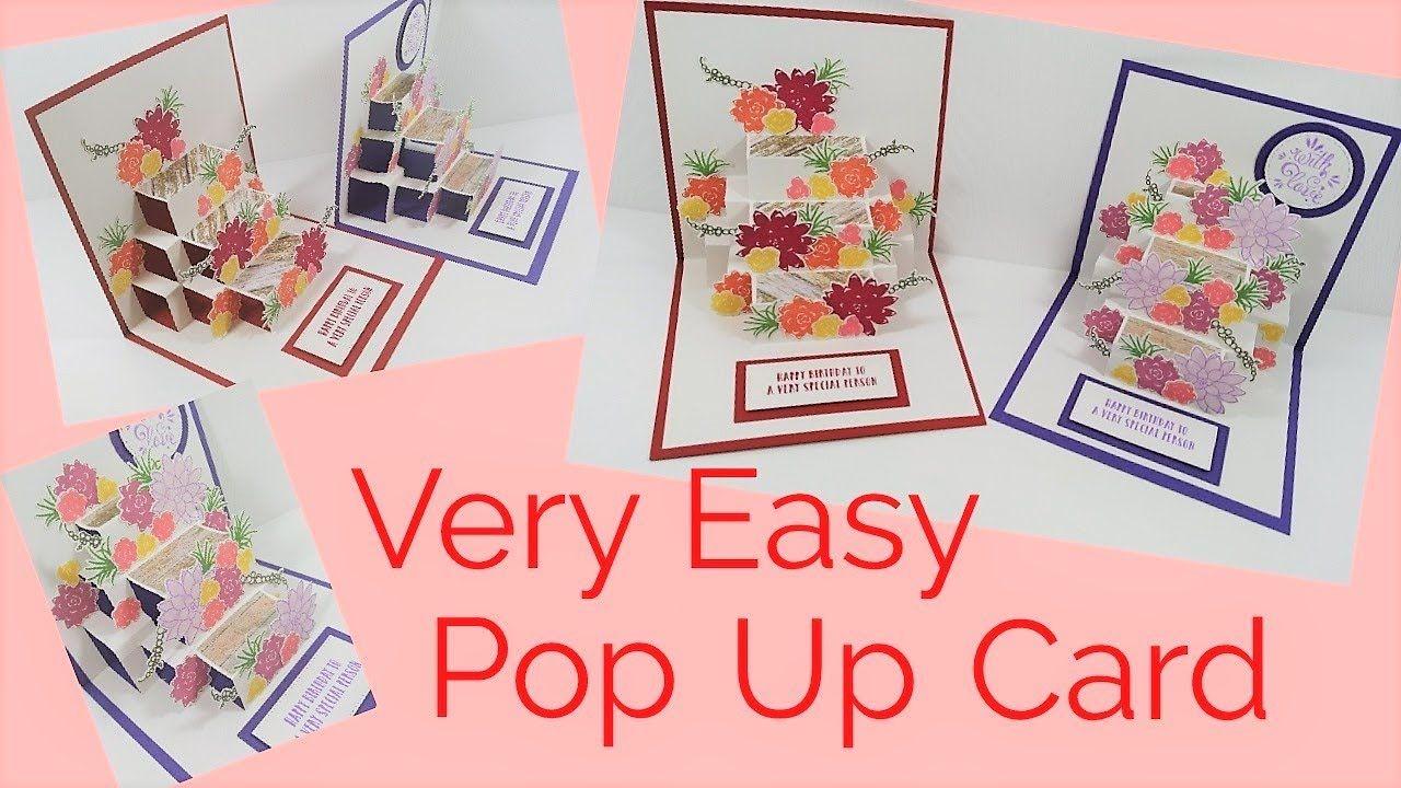 Easy Pop Up Card Video Tutorial Fun Fold Cards Creative Cards Fancy Fold Cards