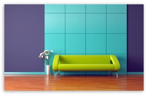 Lime Green Couch Wallpaper