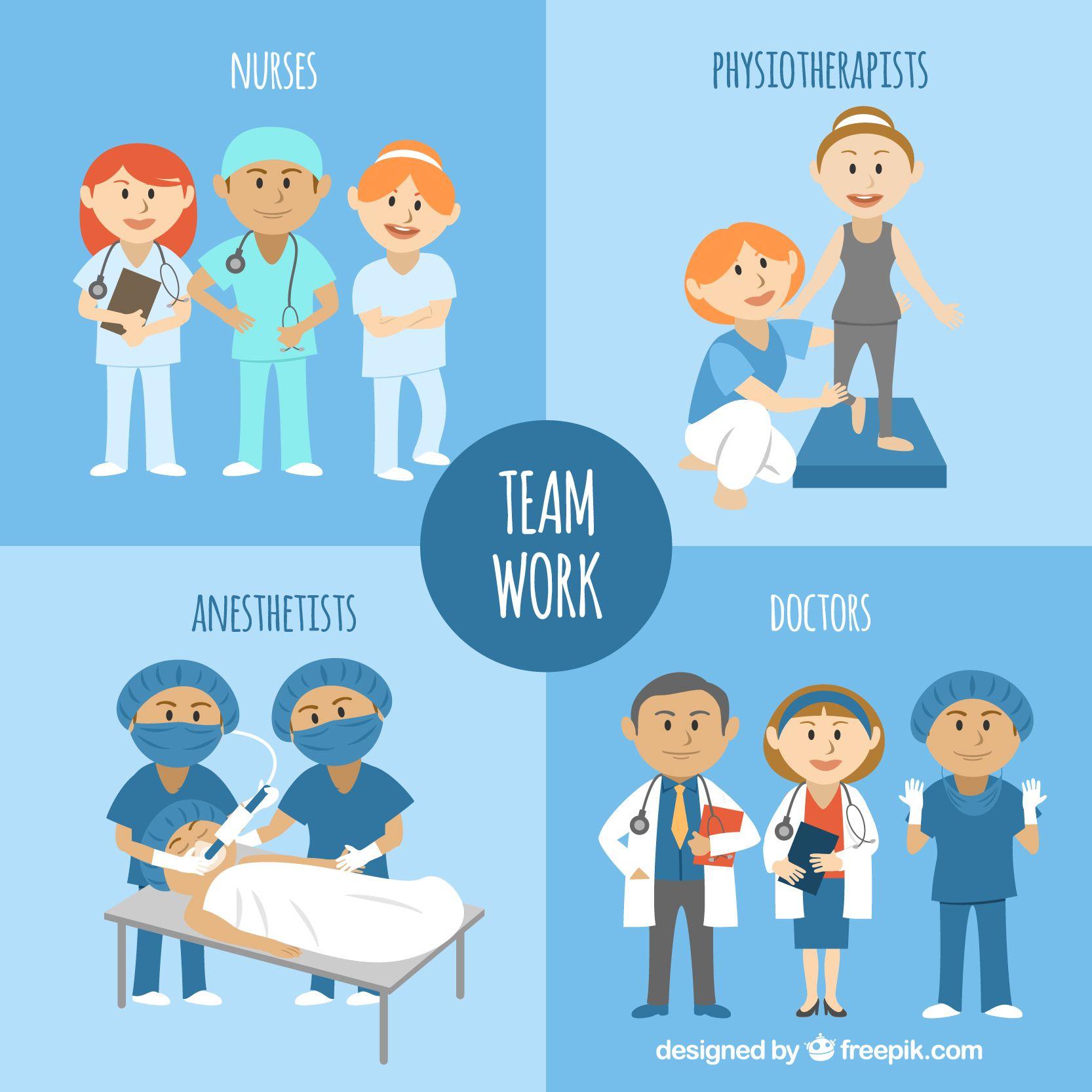 Team Work Healty Illustrazioni, Creativo, Infografica