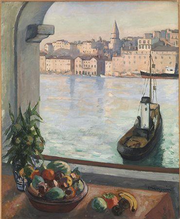 Henri-Charles Manguin, Fenêtre sur le Vieux-Port, décembre 1925 - janvier 1926, huile sur toile (81 x 65 cm)