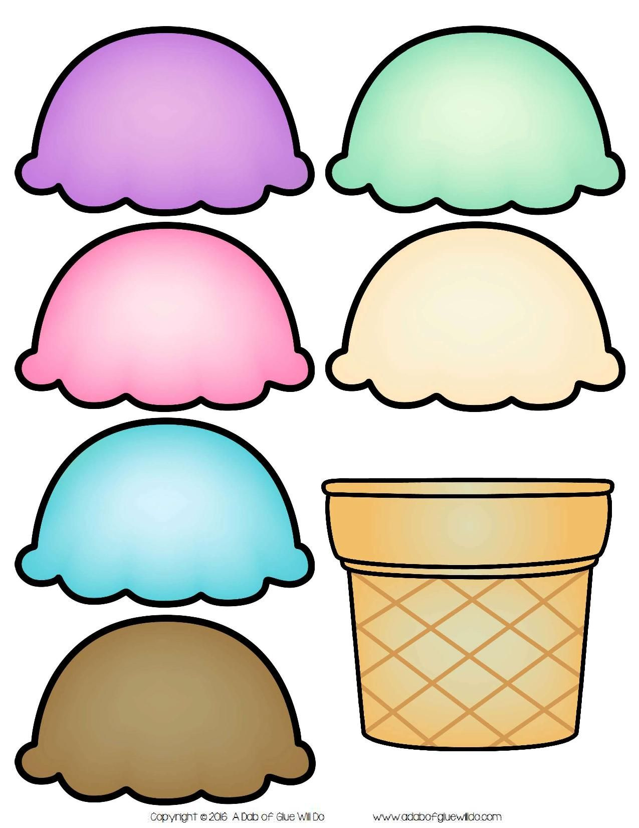 Ice Cream Scoops Name Activity Each Student Is Given An
