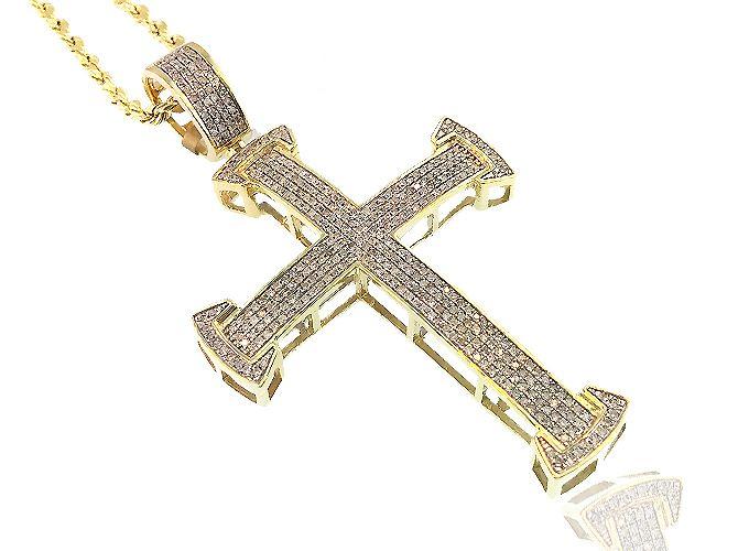 King Johnny - Johnny's Custom Jewelry - 10K Gold 1.00CT Diamond Cross, $1,099.99 (http://www.johnnyscustomjewelry.com/10k-gold-1-00ct-diamond-cross/)