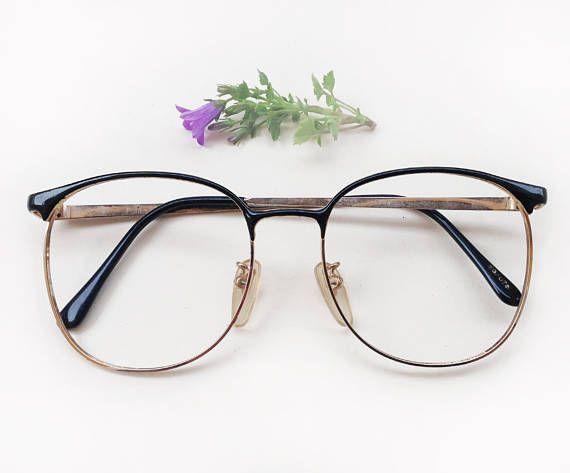 5f779517f5d Ralph Lauren eye glasses Frames   80s hipster oversized eyeglasses   Vintage  designer black enamel women s frames   1980 s rounded Eyewear by Skomoroki