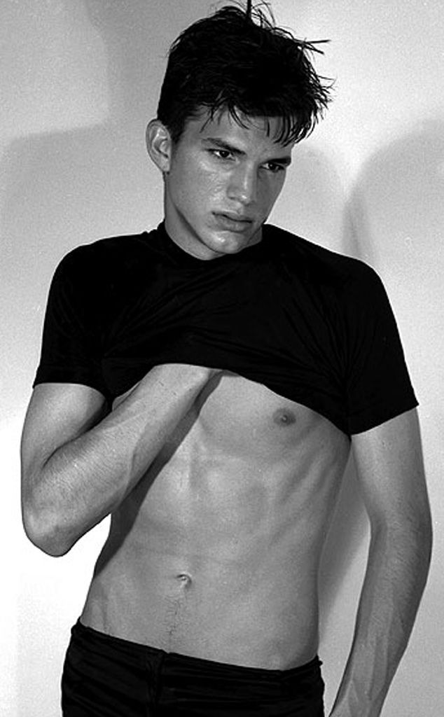Ashton Kutcher from Stars' Early Modeling Pictures