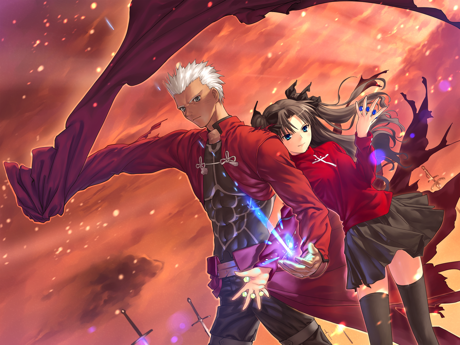 Anime Fate Stay Night Unlimited Blade Works Rin Tohsaka Archer Wallpaper Fate Stay Night Fate Stay Night Rin Poster Prints