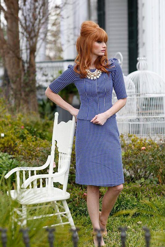 Chartre Street Straight Skirt Blue