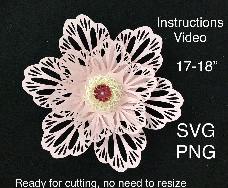 Flower Template Svg, Paper Flower Template, Giant Paper Flower Template, Flower Petal Template, Paper Flower Cricut, Large Flower Svg #largepaperflowers