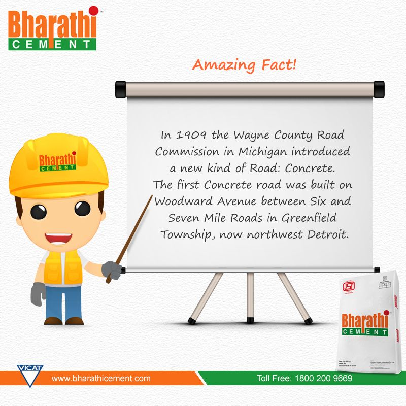 #AmazingFact Intresting #Fact on #Concrete #Roads. (Image copyrights belong to their respective owners)