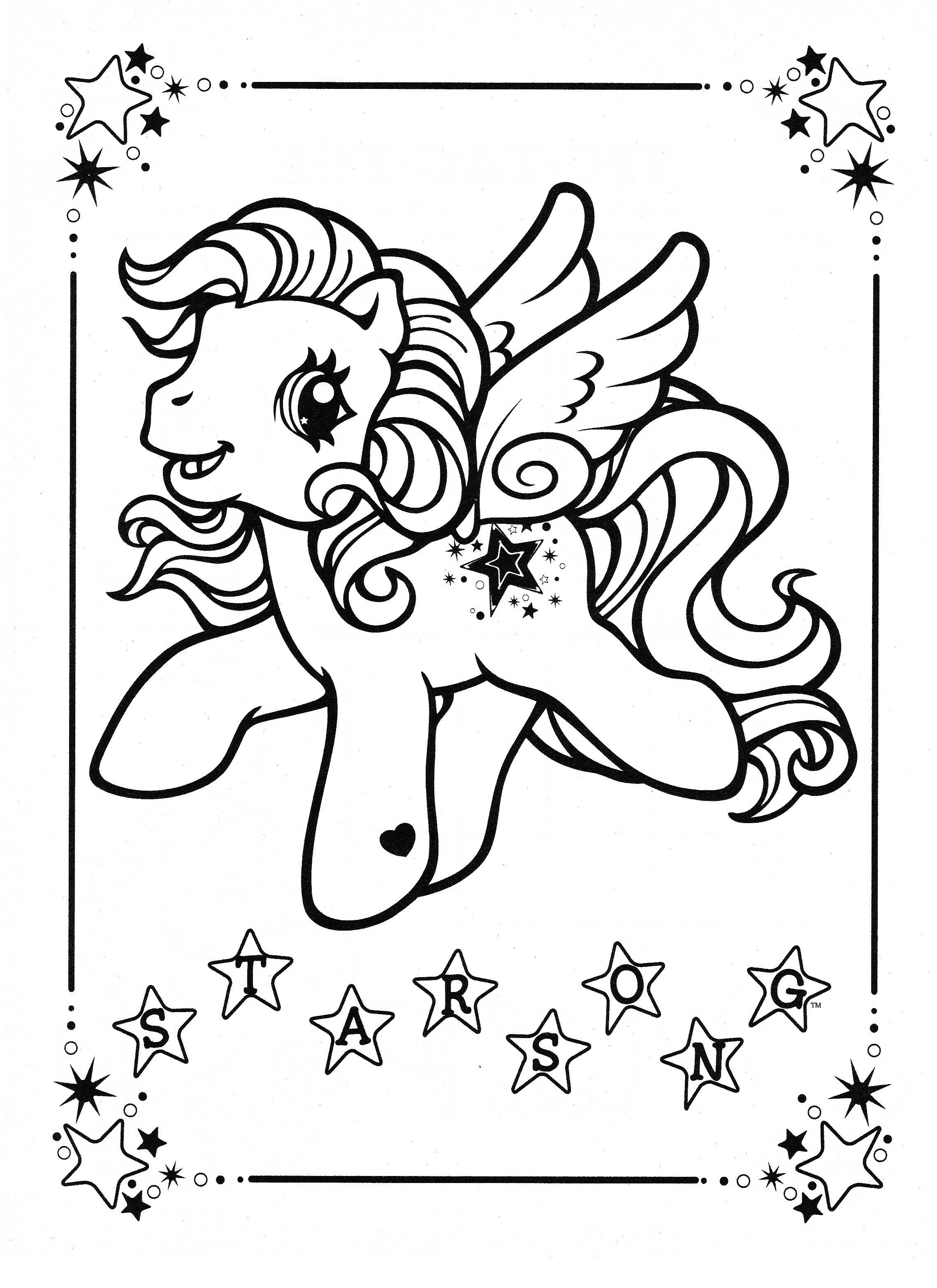 Élégant Dessin à Colorier De My Little Pony