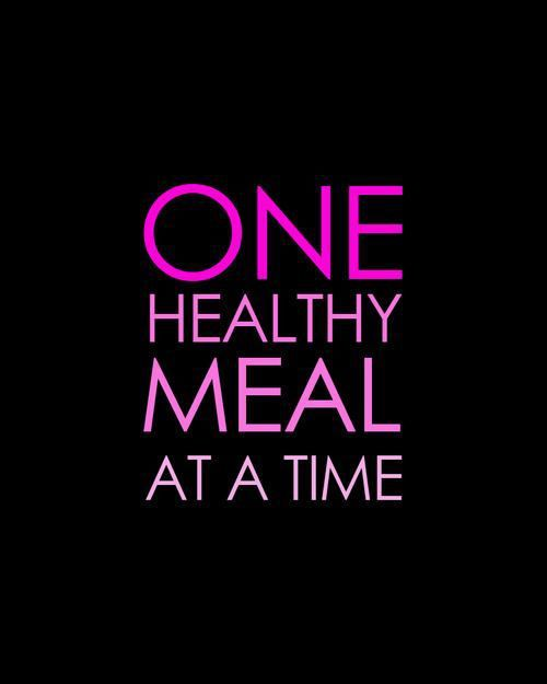 One meal at a time, one day at a time. Let's go!