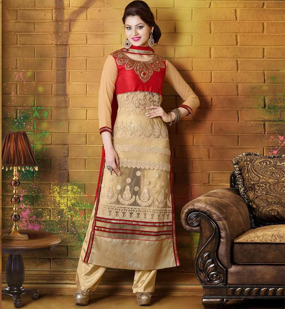 straight cut salwar kameez online india - Google Search ...