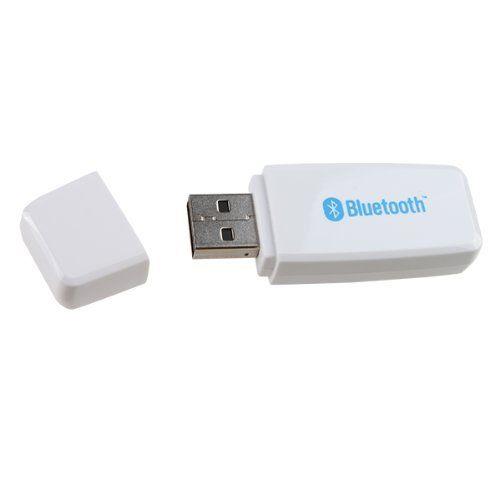 AGPtek® White USB Speaker Adapter For Bluetooth Audio