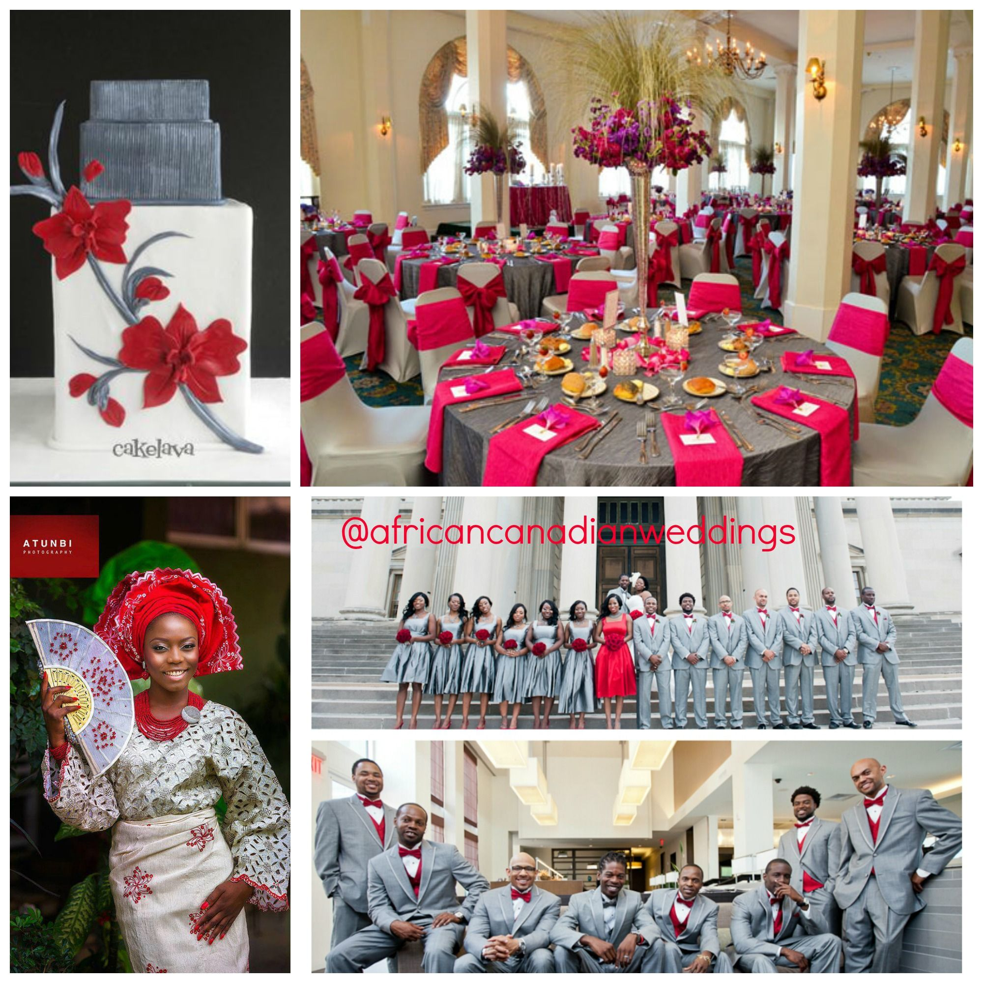 red & gray wedding theme – #beinspired | african canadian