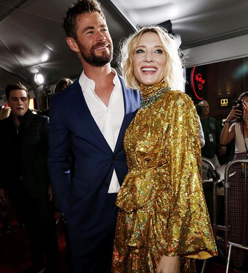 "Chris Hemsworth & Cate Blanchette ""Thor Ragnarok"" film"