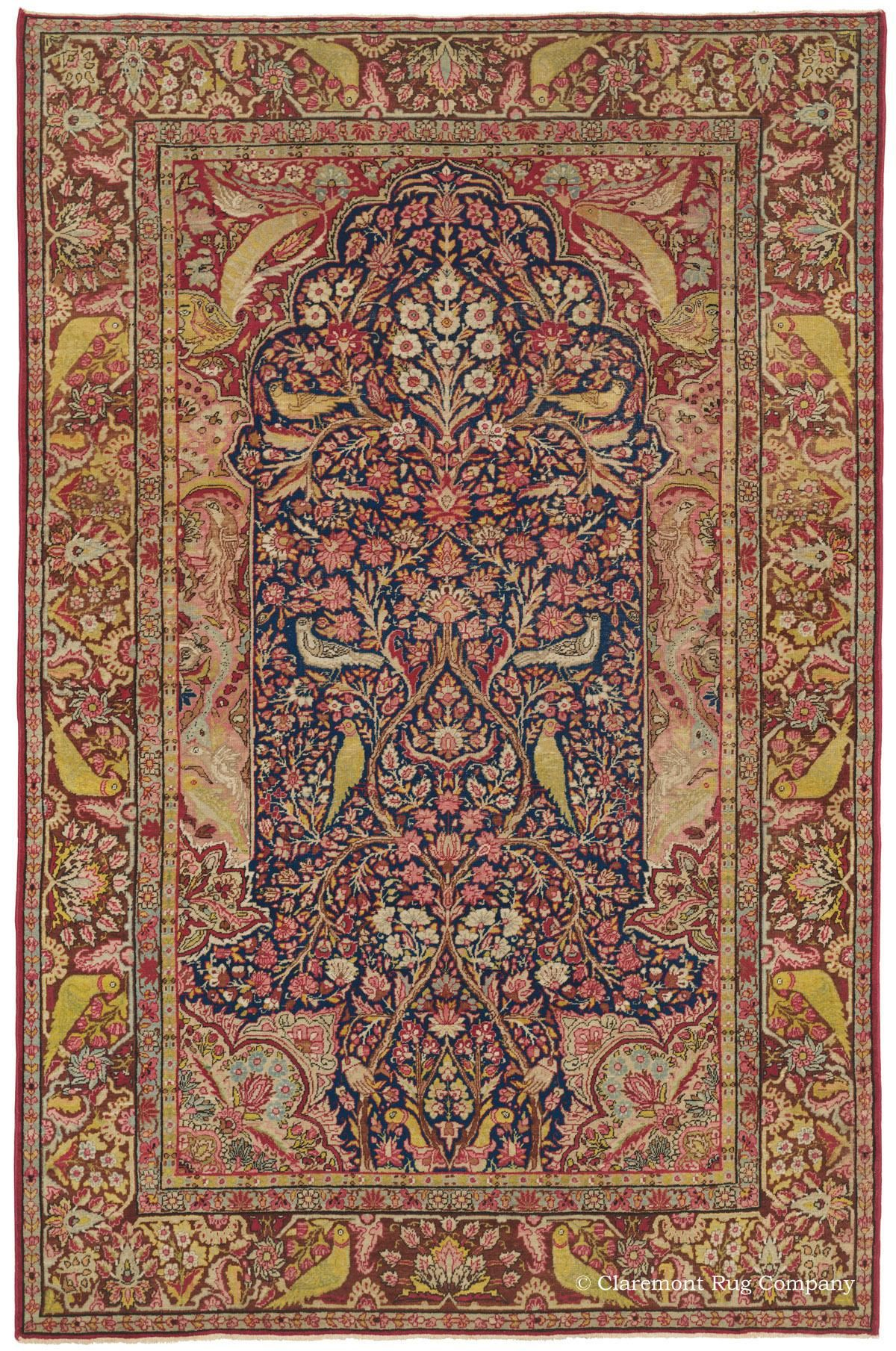 Kermanshah \'Garden of Paradise,\' 4ft 5in x 6ft 9in, Circa 1875. The ...