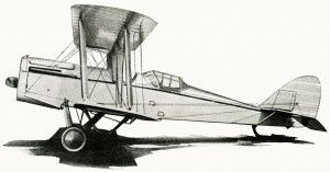 Airplane old fashioned. Free vintage image clip