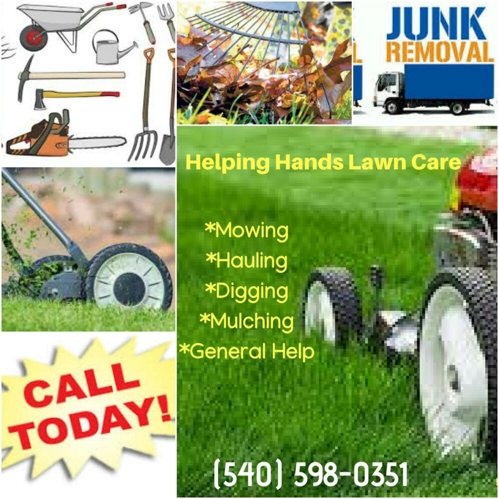 Tools Of The Trade Helping Hands Lawn Care And More Call Us