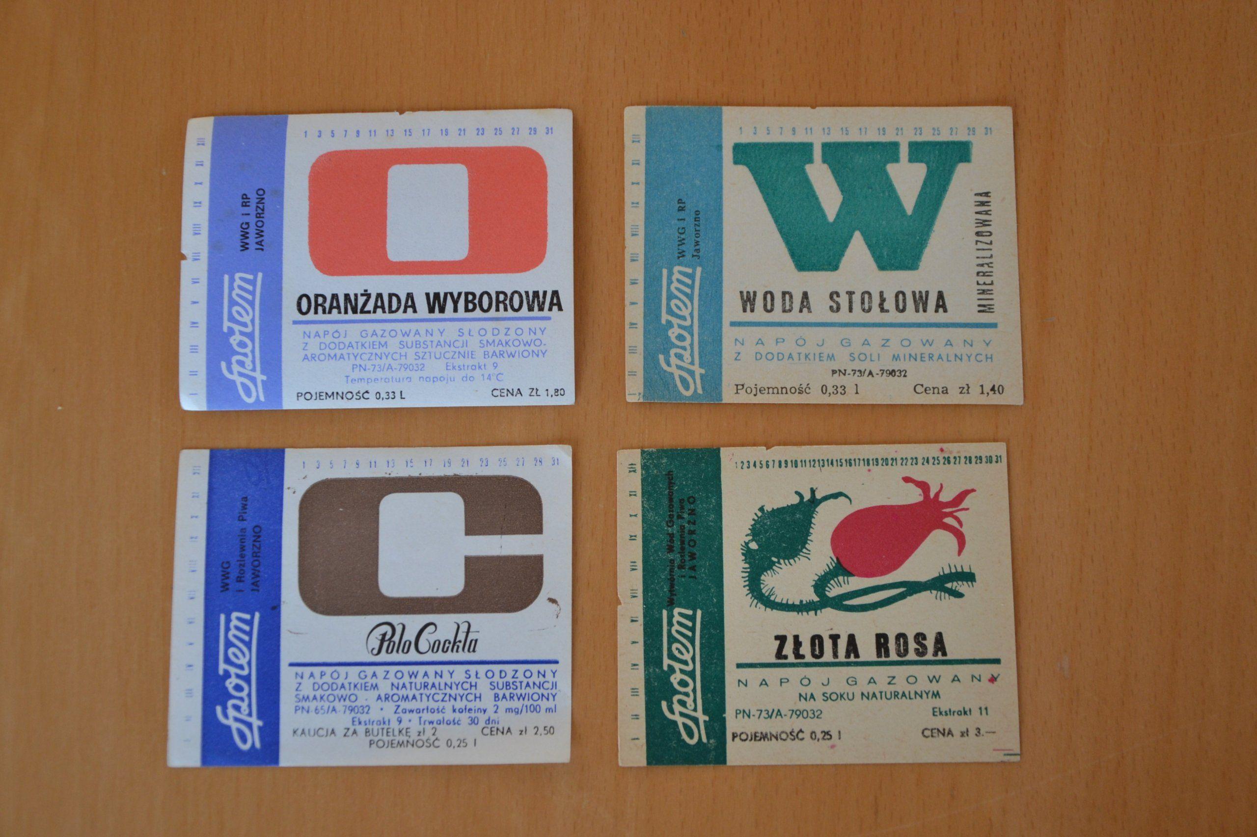 Etykiety Na Butelke Oranzada Polo Cockta Woda M 7352843901 Oficjalne Archiwum Allegro Drinks Ads