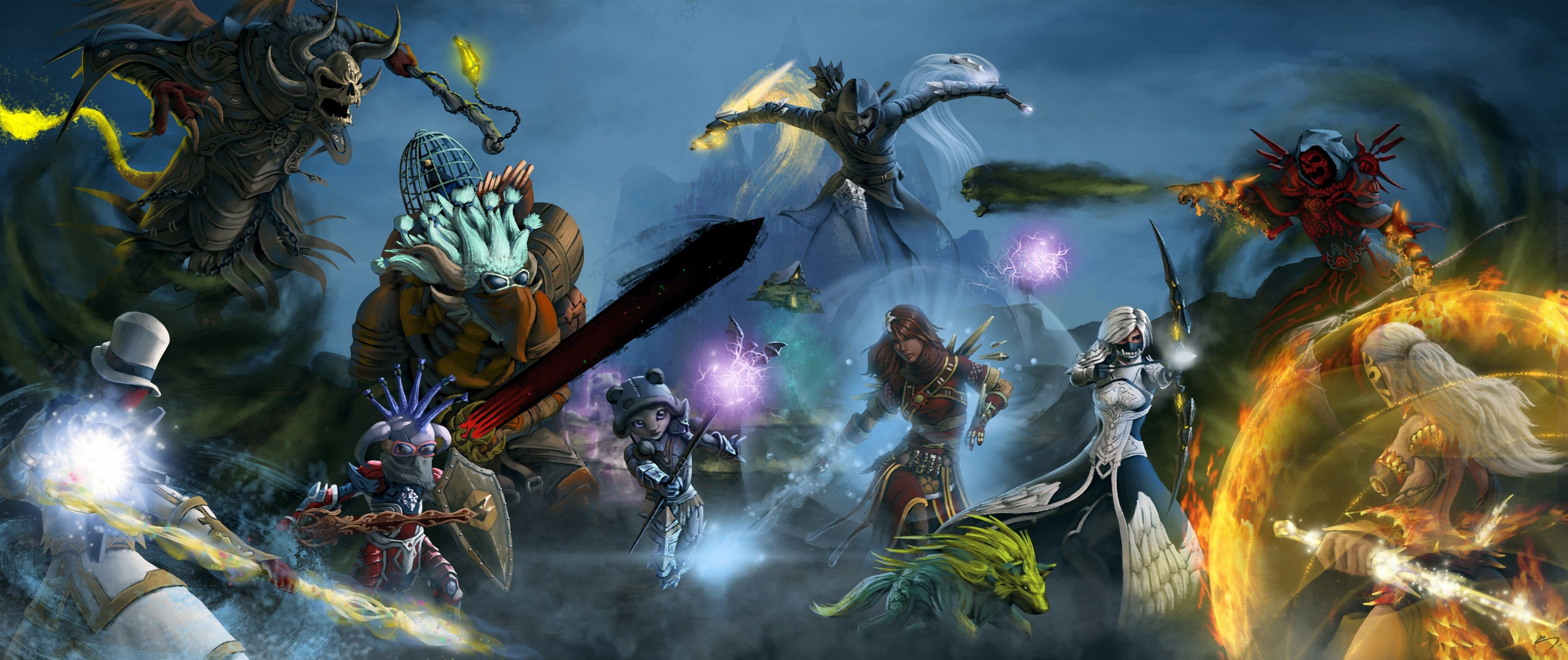 3503x1475 Px Free Desktop Wallpaper Downloads Guild Wars 2 By