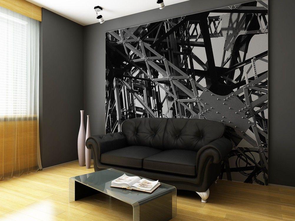Papier peint panoramique  Structure métallique #panoramique #deco