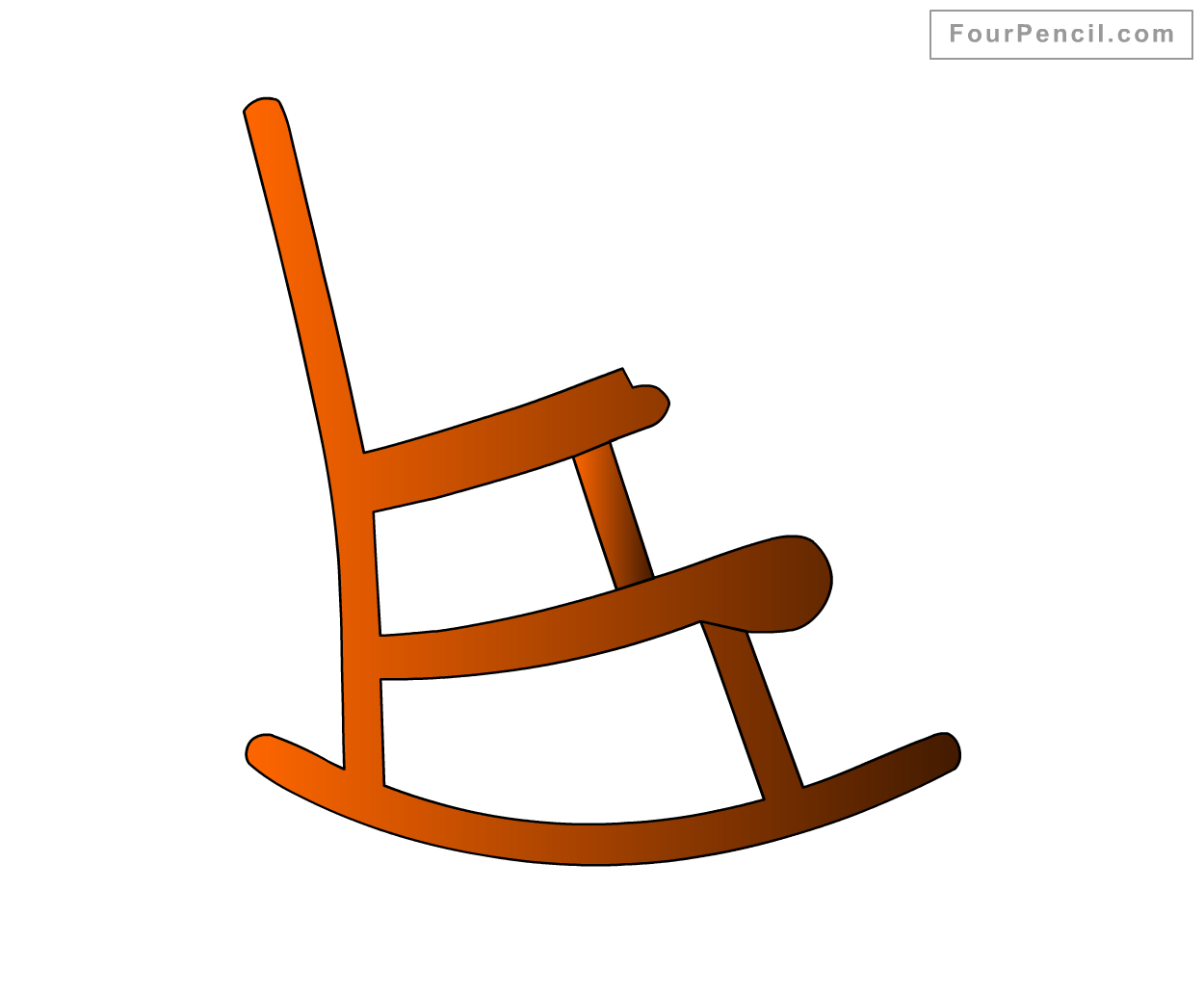 Chair drawing for kids - How To Draw Rocking Chair For Kids Step By Step Drawing Tutorial Draw Rocking Chair