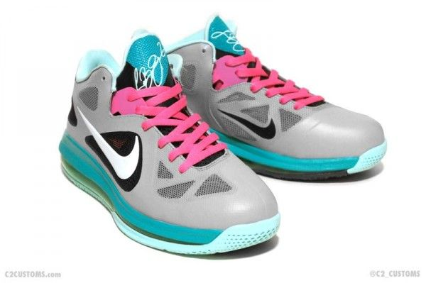 Nike LeBron 9 Low 'South Beach' Custom | Nike lebron, Lebron