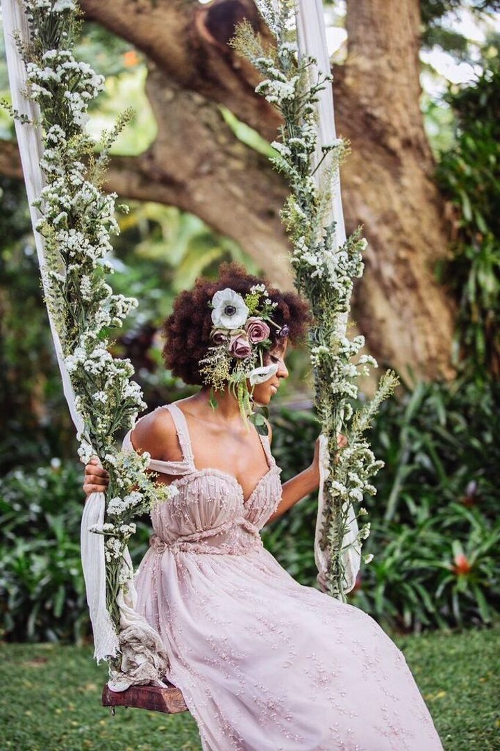 Pink wedding dress idea; photo: What a Day! Photography