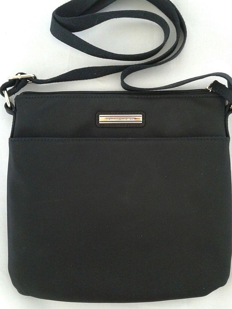 01c506ace07b Tommy Hilfiger Handbag Black Crossbody Purse Nylon Adjustable Strap New   TommyHilfiger  Crossbody