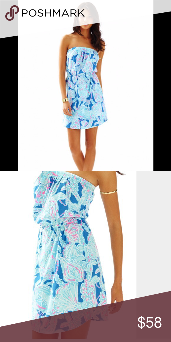 NWT Lilly Pulitzer Windsor Dress Into the Deep Lilly Pulitzer Dresses Mini