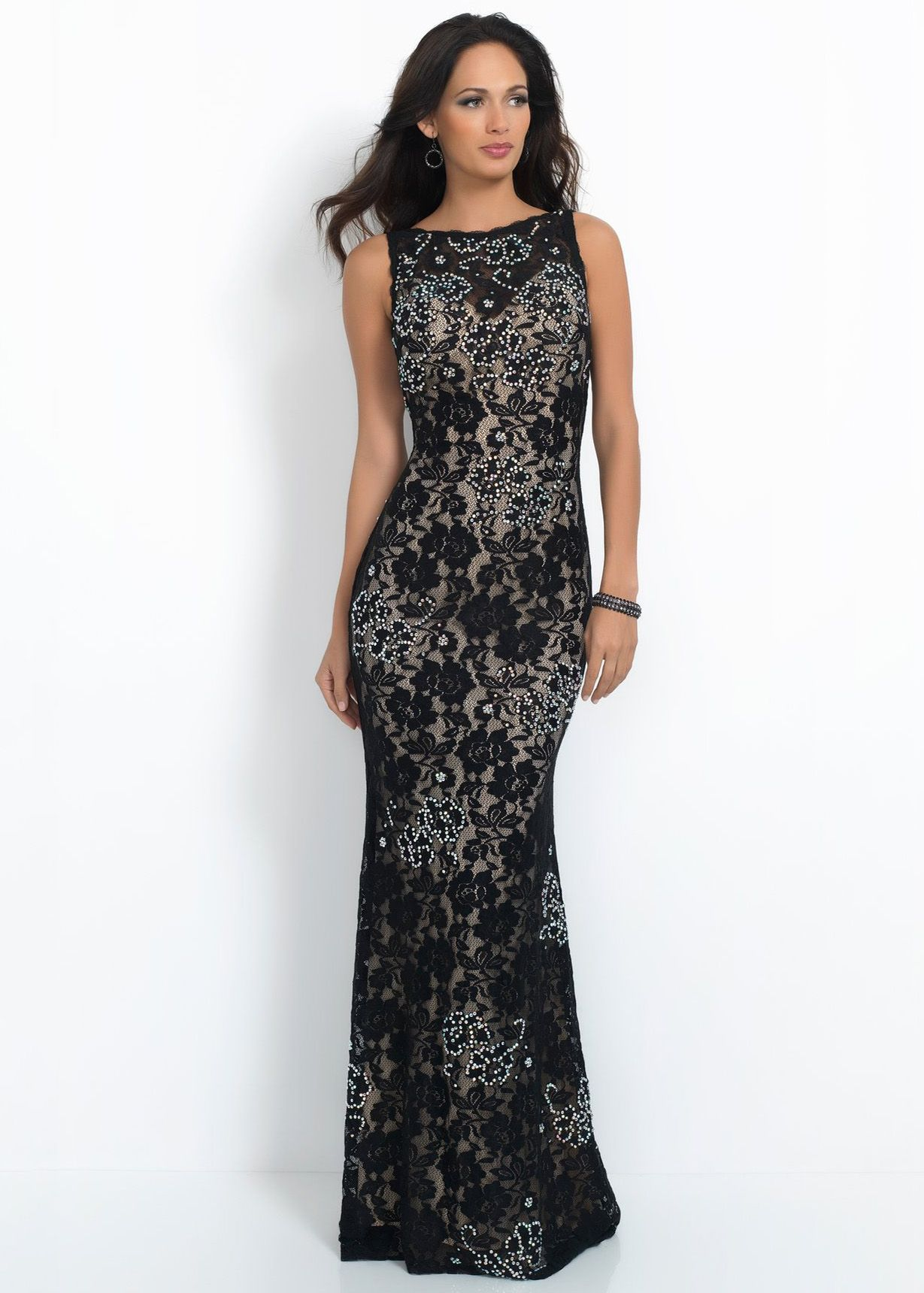 Intrigue fancy fitted lace evening gown lace evening gowns