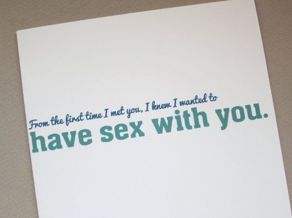Sexual greetings cards