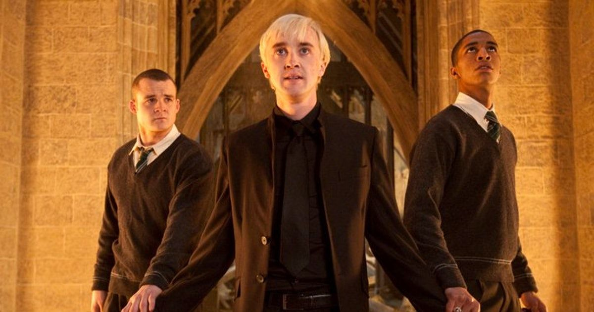 What Happened To Crabbe In Harry Potter And The Deathly Hallows The Film Made A Major Switch Draco Malfoy Harry Potter Movies Draco