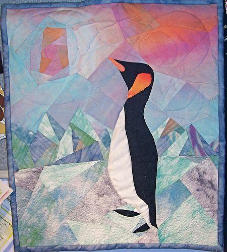 penguin+quilt   penguin mini quilt