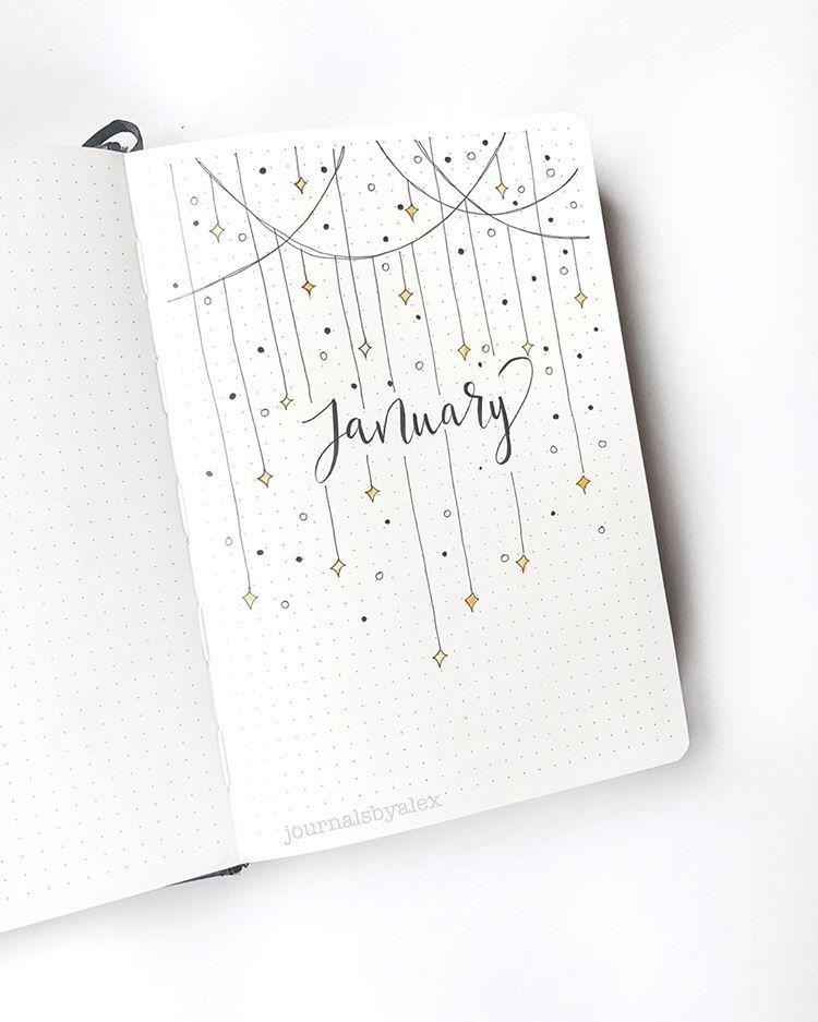 """@journalsbyalex auf Instagram: """"Hallo Januar! Ich bin so aufgeregt, ein neues Bullet-Journal zu starten! Frohes neues Jahr!! #journaling #bulletjournal ... - Debra Blog"""