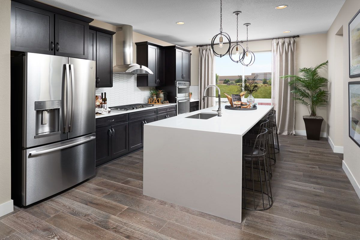 Waterfall island in 2020 New kitchen designs, Home