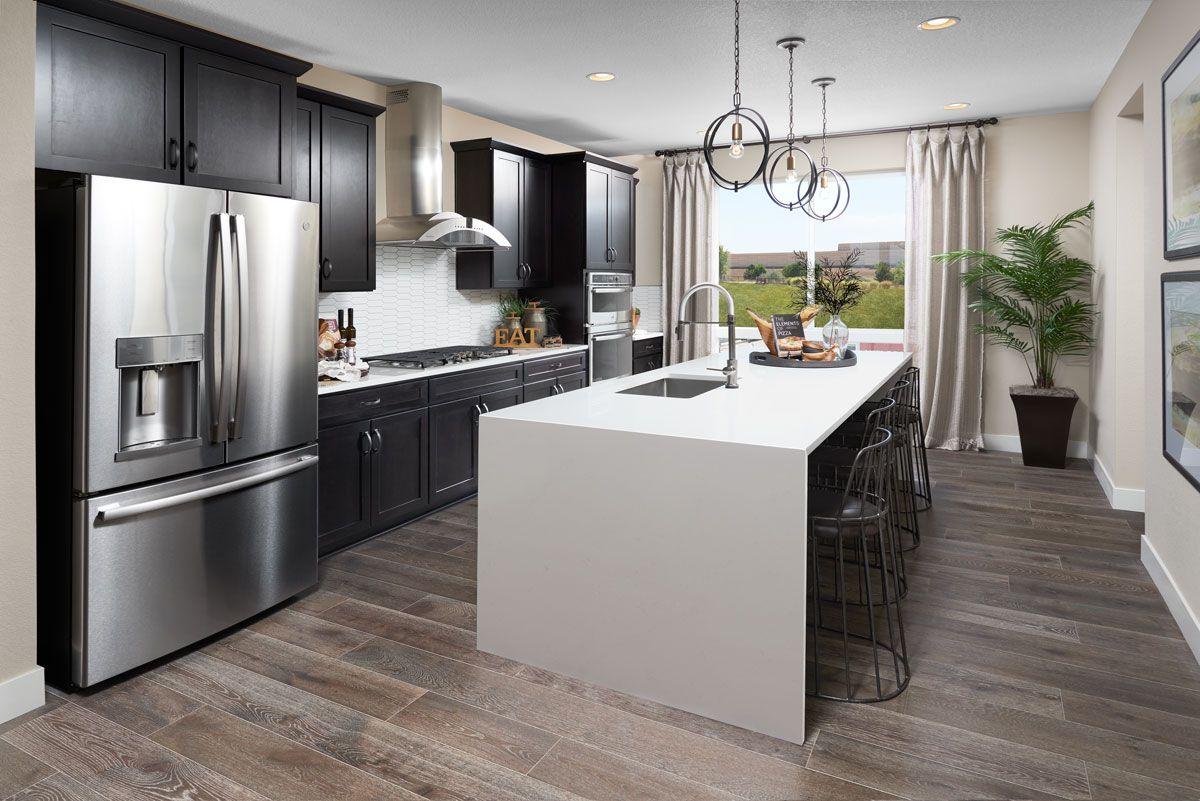 Waterfall Island Home Kitchens New Kitchen Designs Kitchen Living