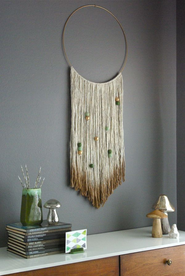 Oleander And Palm: DIY Gold Dipped Yarn Hanging. Diy Wall ArtWall DecorDiy  Home ...