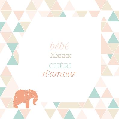 Faire part  Chéri d'Amour U1-A