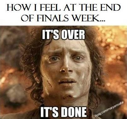 How I Feel At The End Of Finals Week Exams Memes Humor Funny