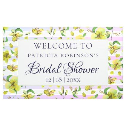 Alstromeria Floral Tropical Spring Wedding Party Banner floral