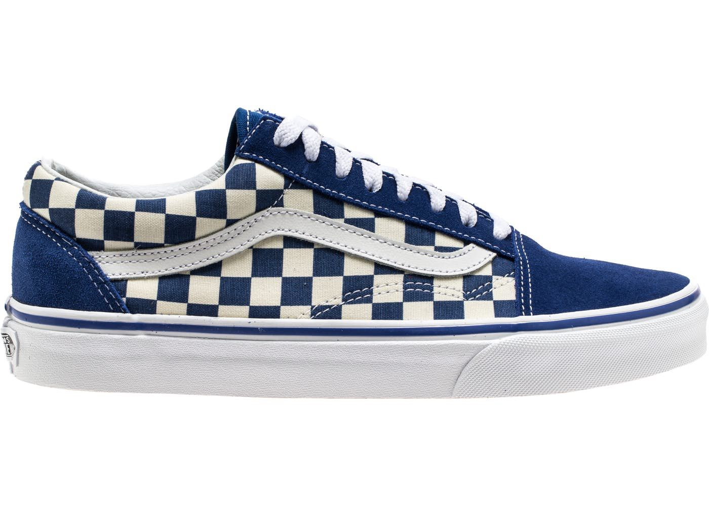 Check out the Vans Old Skool Blue Checkerboard available on