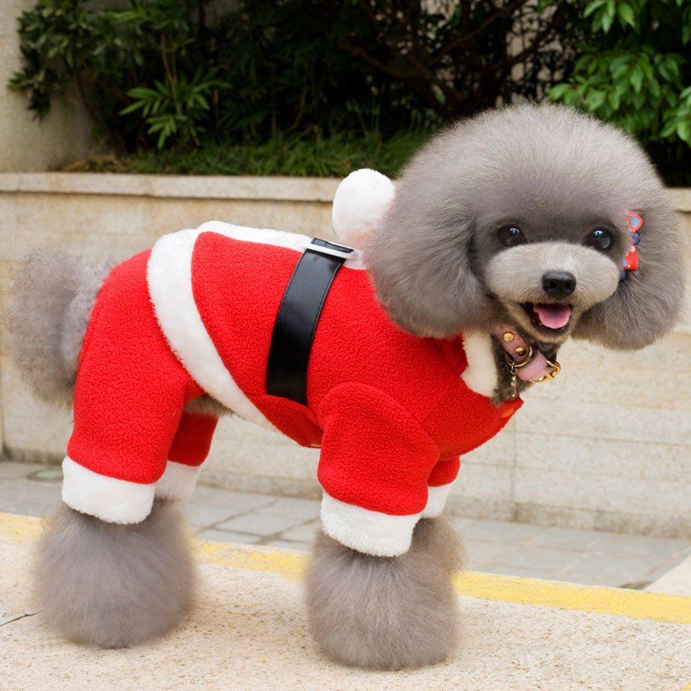 smalllee_lucky_store Small Dog Santa Costume Dog Christmas