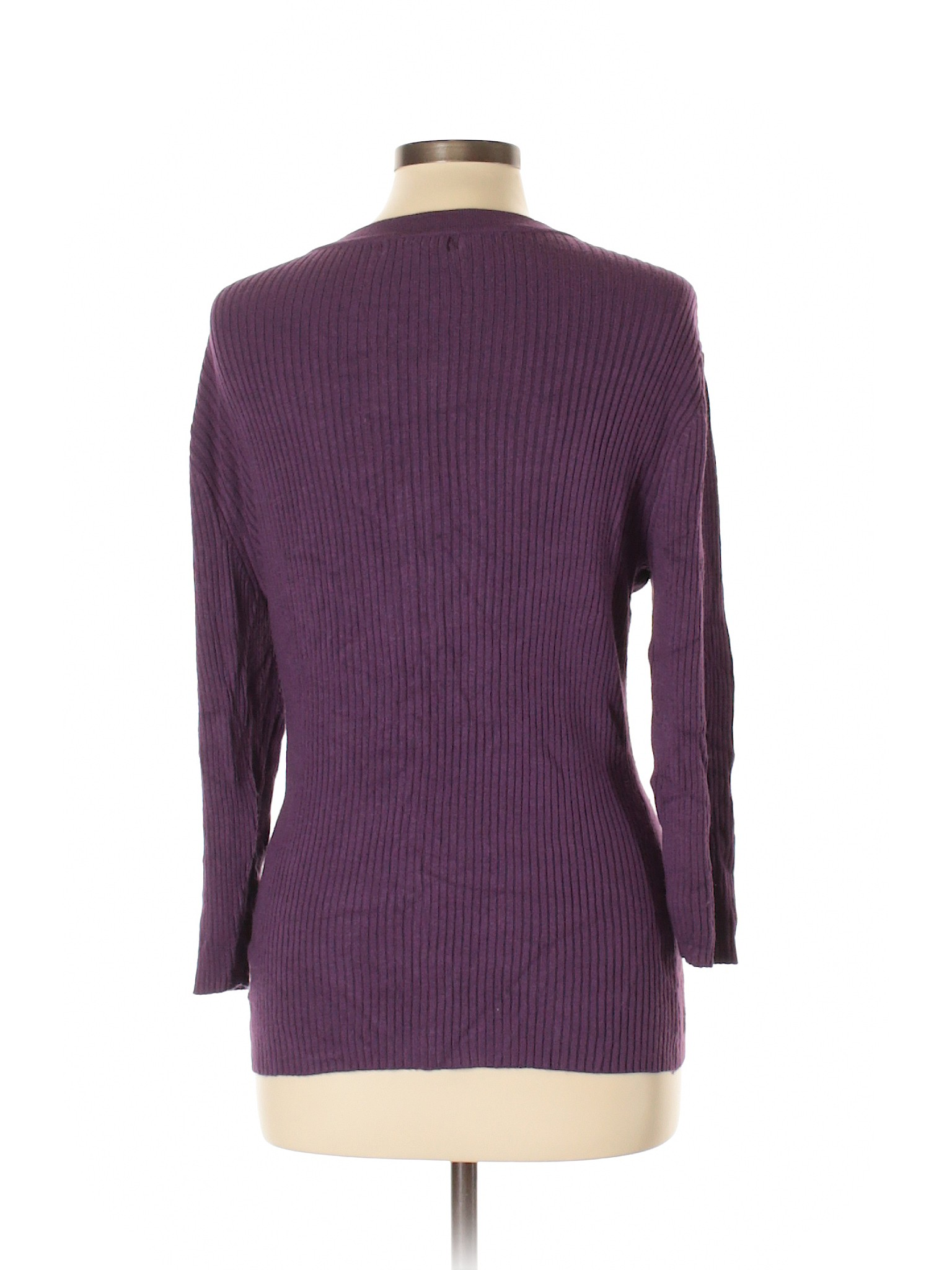 New York U0026 Company Cardigan: Size 12.00 Dark Purple Womenu0027s Sweaters U0026  Sweatshirts   $10.99