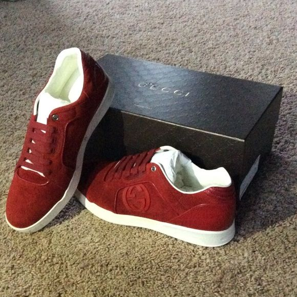 Red Gucci Sneakers Brand new never worn Gucci sneakers! Comes with dust bag and box! Offers can be made. Gucci Shoes Sneakers
