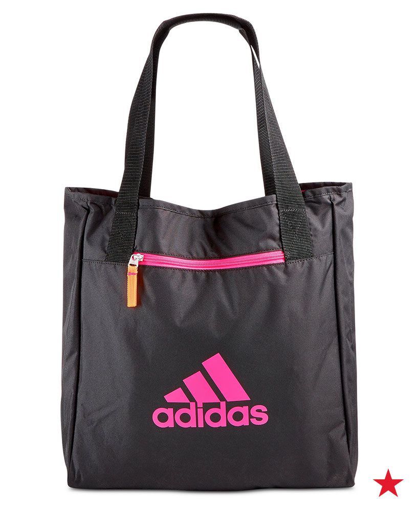 b9c3ba6cc0 Here s a cute way to run errands or carry your essentials to yoga class   the reversible adidas Studio II tote bag! Shop macys.com now.