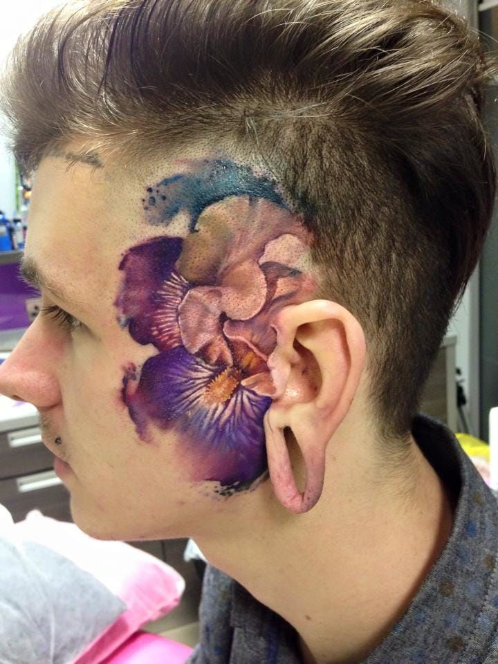 36cf8f52b66df The Flowery Tattoos Of Lianne Moule | Tattoos | Tattoos, Facial ...