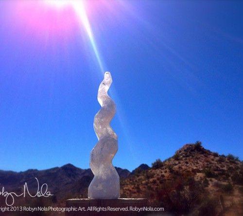"Selenite Bundle with Ribbon 8"" – Aviva Stanoff Design  Decorating With Selenite"