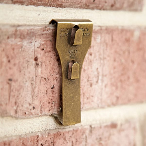 Attach Wood To Brick Without Drilling 2 Clips Exposed Walls Wall