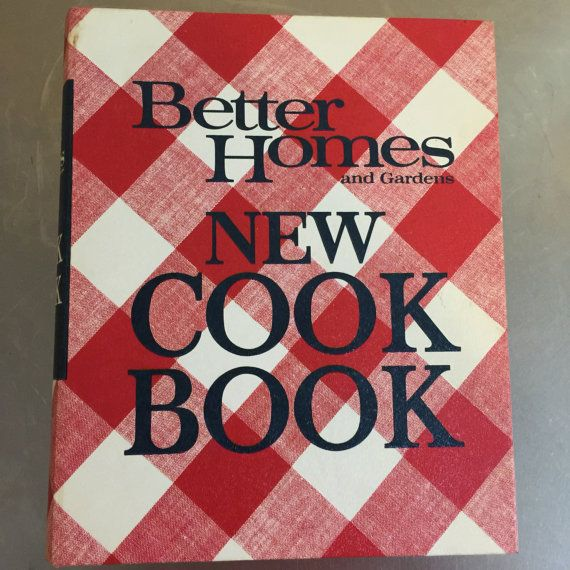vintage better homes and gardens new cook book 1968 loose leaf